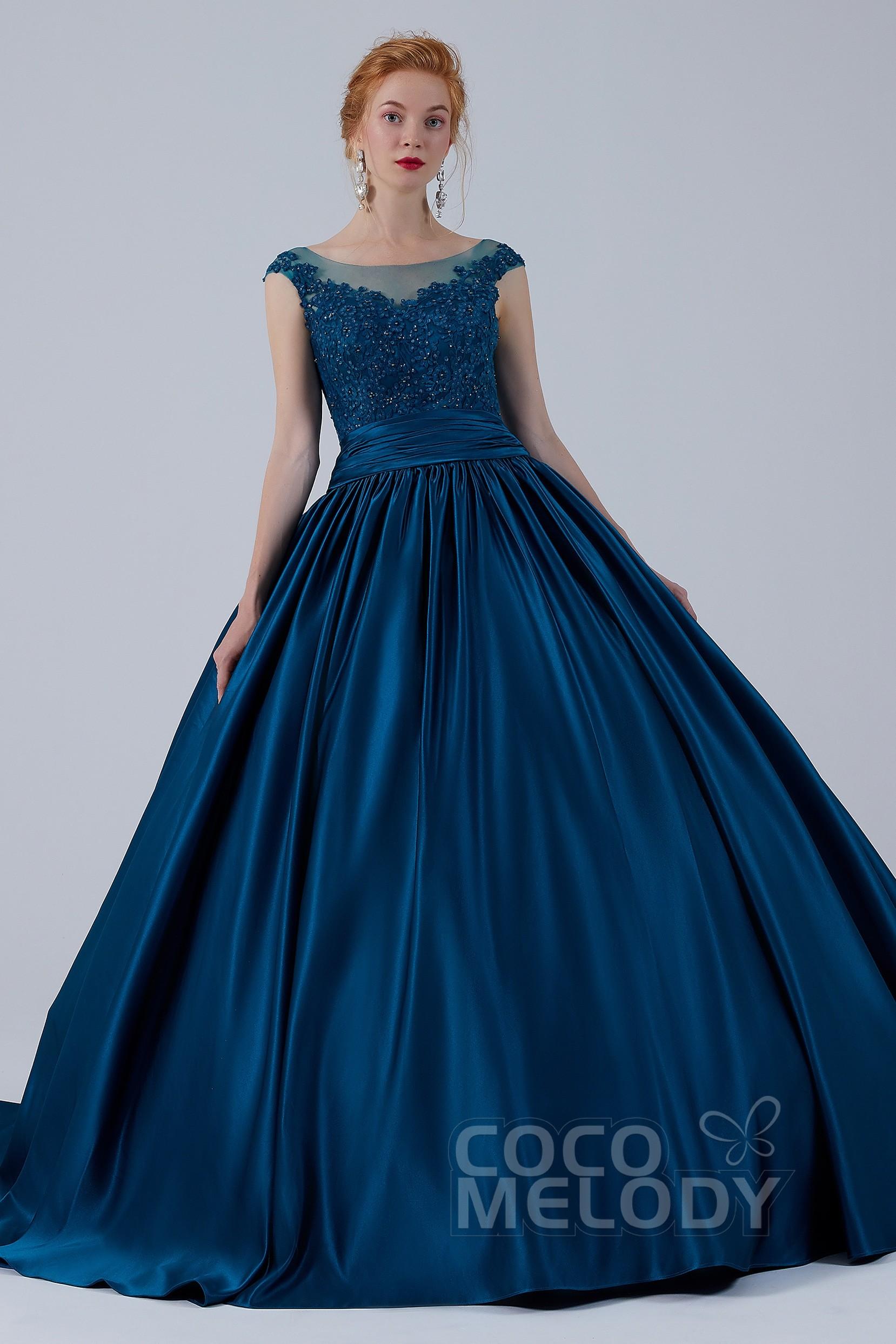 ココメロディのブルーのカラードレス